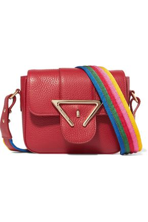 SARA BATTAGLIA Lucy mini textured-leather shoulder bag