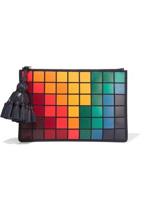 ANYA HINDMARCH Georgiana Giant Pixels leather clutch