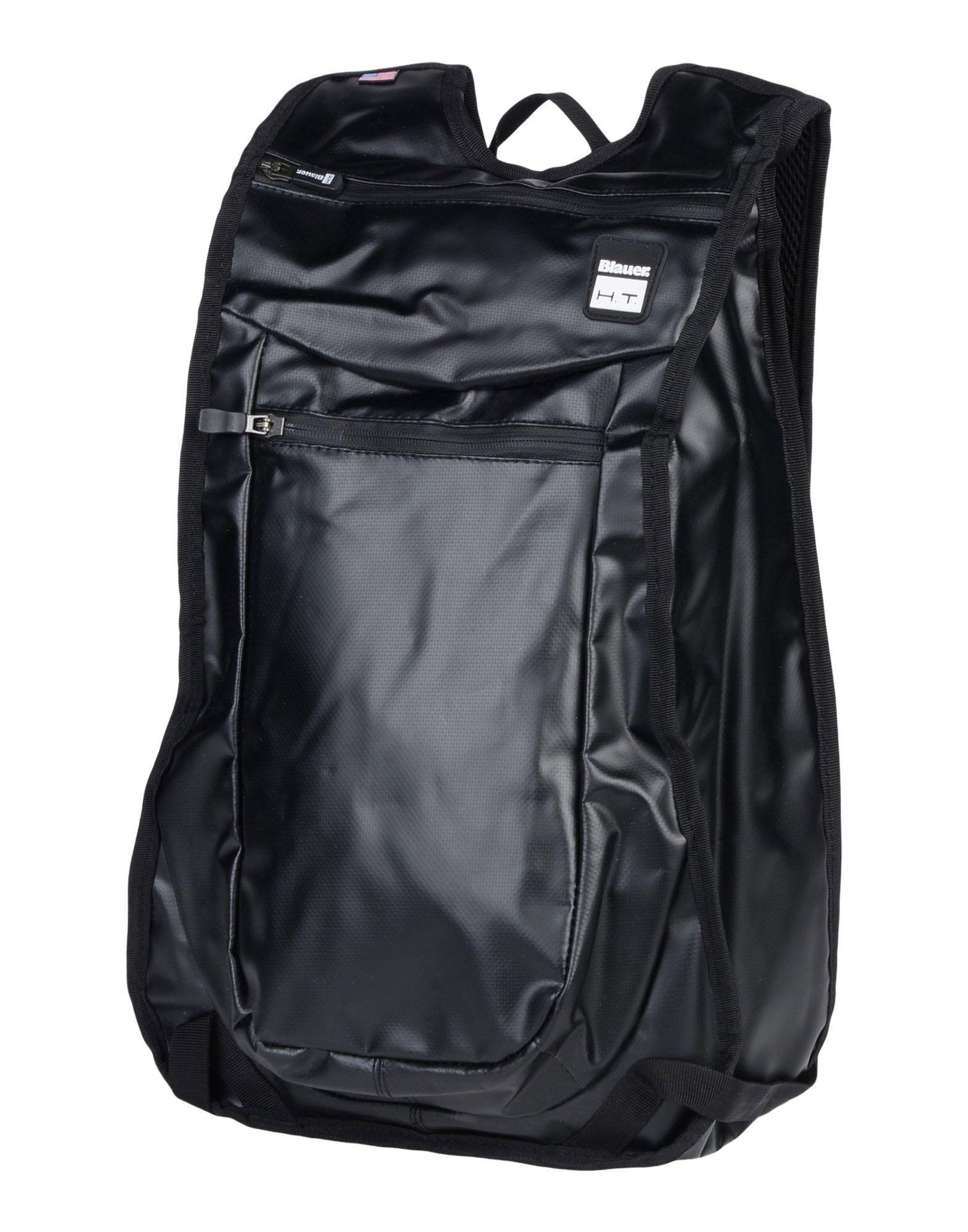 《送料無料》BLAUER. H.T. メンズ バックパック&ヒップバッグ ブラック ポリ塩化ビニル 80% / ポリエステル 20%