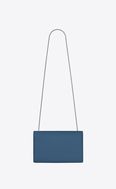 SAINT LAURENT MONOGRAM KATE Woman Medium KATE chain bag in denim blue textured leather b_V4