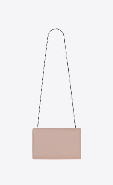SAINT LAURENT MONOGRAM KATE Woman Medium KATE chain bag in pink textured leather b_V4