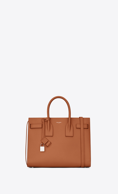 SAINT LAURENT Sac De Jour Small Woman Small SAC DE JOUR in cognac grained leather a_V4