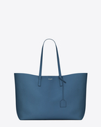 SAINT LAURENT Shopping Saint Laurent E/W D SHOPPING bag in denim blue leather f