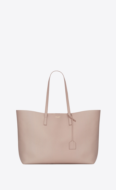 SAINT LAURENT Shopping Saint Laurent E/O D Sac shopping en cuir rose a_V4