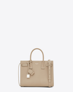 SAINT LAURENT Baby Sac de Jour D BABY SAC DE JOUR in powder and white grained leather f
