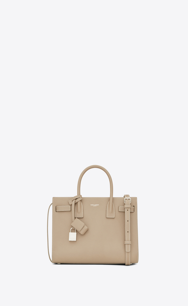 SAINT LAURENT Baby Sac de Jour D BABY SAC DE JOUR in powder and white grained leather a_V4