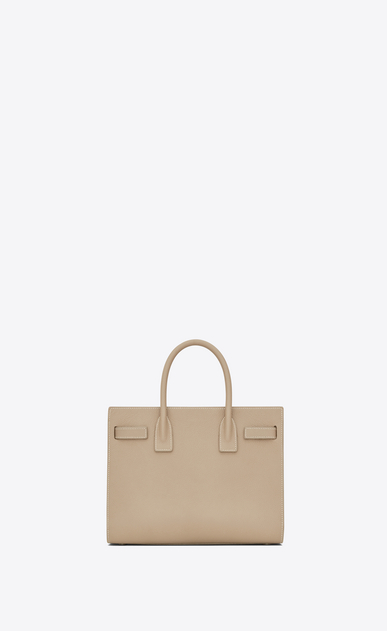 SAINT LAURENT Baby Sac de Jour D BABY SAC DE JOUR in powder and white grained leather b_V4
