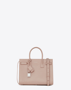 SAINT LAURENT Baby Sac de Jour D BABY SAC DE JOUR in pink crocodile embossed shiny leather f