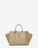 SAINT LAURENT MONOGRAMME TOTE D Small DOWNTOWN YSL tote bag in powder leather and suede f