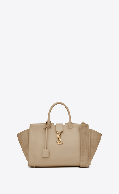 SAINT LAURENT MONOGRAMME TOTE Woman downtown small cabas in leather and suede a_V4