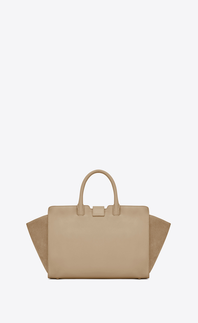 SAINT LAURENT MONOGRAMME TOTE Woman Small DOWNTOWN YSL tote bag in powder leather and suede b_V4