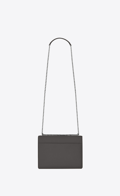 SAINT LAURENT Sunset Woman Medium SUNSET bag in asphalt gray leather b_V4