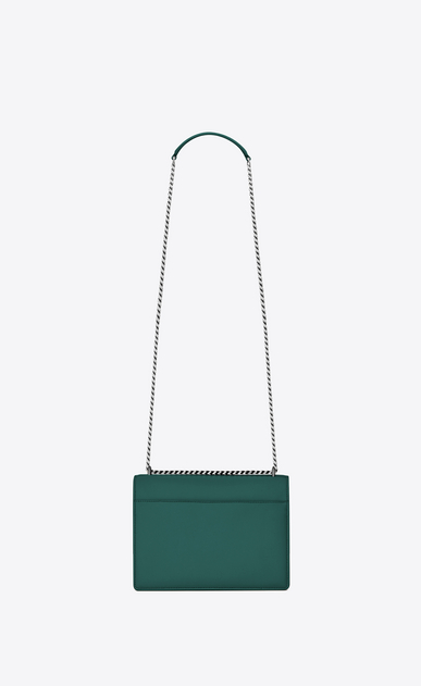 SAINT LAURENT Sunset Femme Sac Medium SUNSET en cuir vert d'eau b_V4