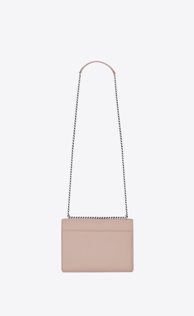 SAINT LAURENT Sunset D Mittlere SUNSET Tasche aus pinkem Leder b_V4