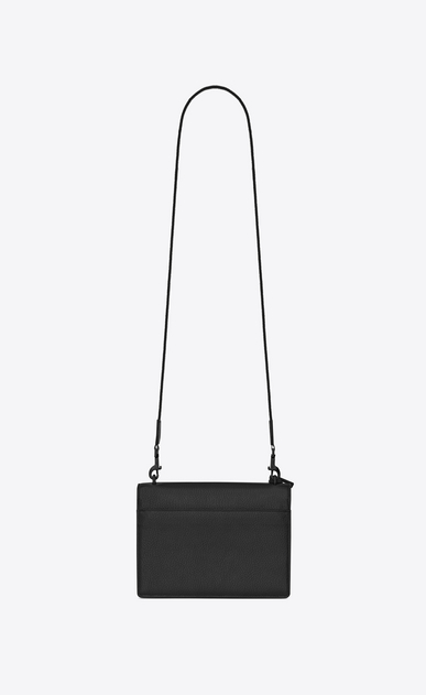 SAINT LAURENT Sunset D Mittlere SUNSET FES Sunset Tasche aus schwarzem Narbenleder b_V4