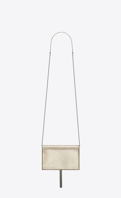 SAINT LAURENT Mini bags Kate D KATE chain and tassel wallet in pale gold and black crinkled leather b_V4