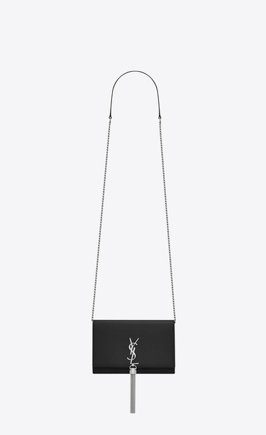 SAINT LAURENT MONOGRAM KATE WITH TASSEL D KATE chain and tassel wallet in black smooth leather a_V4