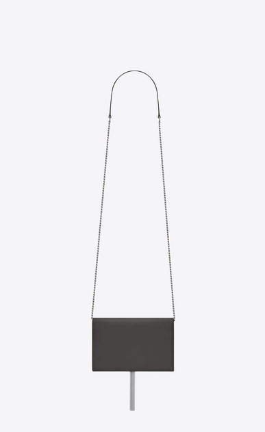 SAINT LAURENT Mini bags Kate Woman KATE chain and tassel wallet in asphalt gray leather b_V4
