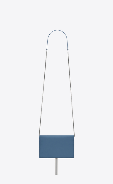 SAINT LAURENT Mini bags Kate D KATE chain and tassel wallet in denim blue smooth leather b_V4