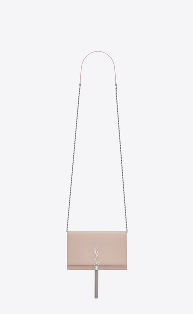SAINT LAURENT MONOGRAM KATE WITH TASSEL D KATE chain and tassel wallet in pink smooth leather a_V4
