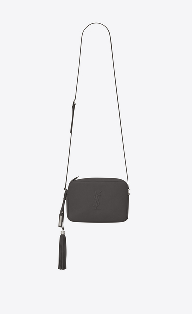SAINT LAURENT Camera bag Woman lou Camera Bag in asphalt gray leather a_V4