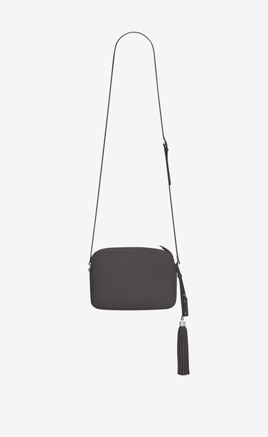 SAINT LAURENT Monogram Lou Woman lou Camera Bag in asphalt gray leather b_V4