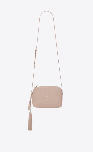 SAINT LAURENT Monogram Lou Woman lou camera bag in pink leather a_V4