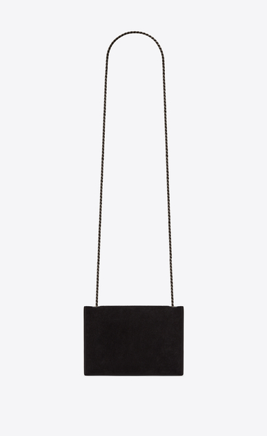 SAINT LAURENT MONOGRAM KATE Woman KATE Berber chain bag in black suede with multicolored beads b_V4