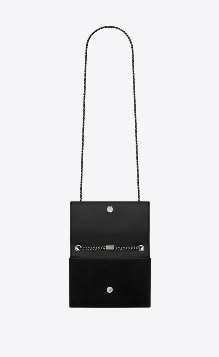bd5d4f802031 Zoom  KATE Berber chain bag in black suede with multicolored beads