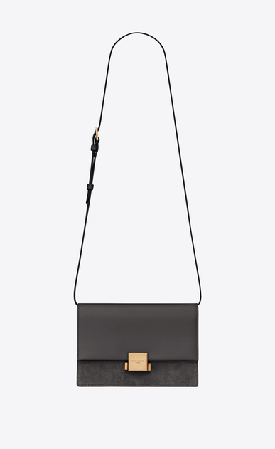 SAINT LAURENT Bellechasse Woman Medium BELLECHASSE SAINT LAURENT bag in gray leather and suede a_V4