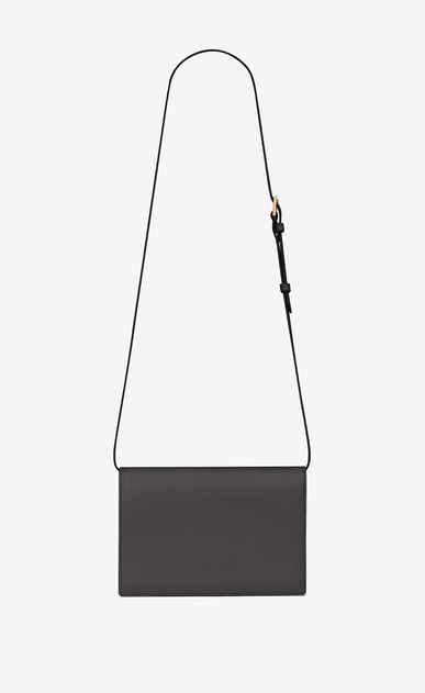 SAINT LAURENT Bellechasse Woman Medium BELLECHASSE SAINT LAURENT bag in gray leather and suede b_V4