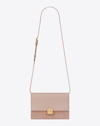 SAINT LAURENT Bellechasse D Medium BELLECHASSE SAINT LAURENT satchel in pink leather and suede f