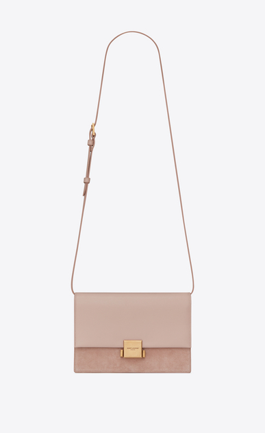 SAINT LAURENT Bellechasse D Medium BELLECHASSE SAINT LAURENT satchel in pink leather and suede a_V4