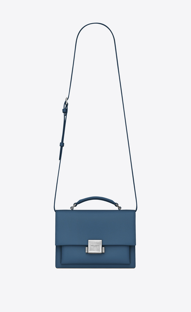 SAINT LAURENT Bellechasse D Medium BELLECHASSE SAINT LAURENT bag in denim blue leather a_V4