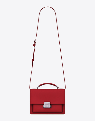 MEDIUM BELLECHASSE SAINT LAURENT BAG IN RED LEATHER