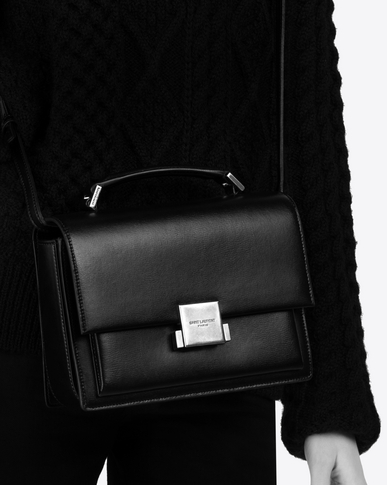 SAINT LAURENT Bellechasse Woman Medium BELLECHASSE SAINT LAURENT bag in powder leather y_V4