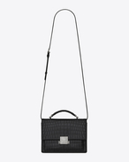 SAINT LAURENT Bellechasse D Medium BELLECHASSE SAINT LAURENT bag in crocodile-embossed matte black leather f