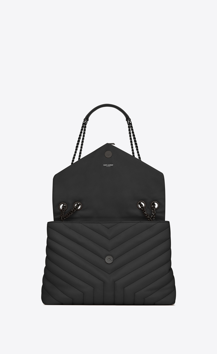Saint Laurent Medium Loulou Bag With Chain And Black Quot Y