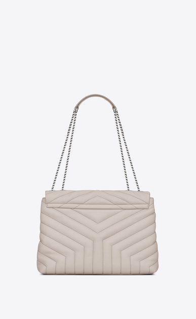 "SAINT LAURENT Monogramme Loulou Woman medium loulou bag in ivory ""y"" quilted leather b_V4"