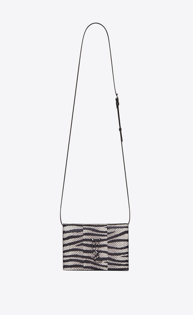 SAINT LAURENT Mini bags Kate D KATE Toy bag in black and white zebra-stripe Ayers a_V4
