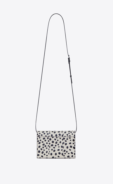 SAINT LAURENT Mini bags Kate D KATE Toy bag in white Elaphe with black polka dots b_V4
