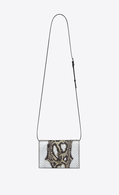 SAINT LAURENT Mini bags Kate D KATE Toy bag in black and white python a_V4