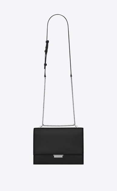 SAINT LAURENT Babylone D Medium BABYLONE chain bag in black leather a_V4