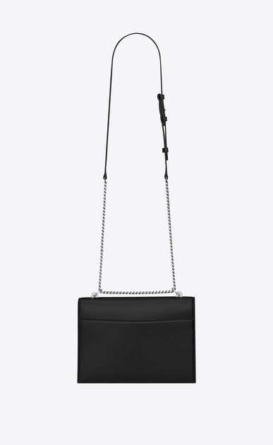 SAINT LAURENT Babylone D Medium BABYLONE chain bag in black leather b_V4