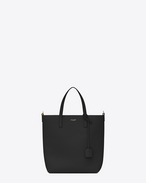 SAINT LAURENT Shopping Saint Laurent E/W D SHOPPING Toy bag in black leather f