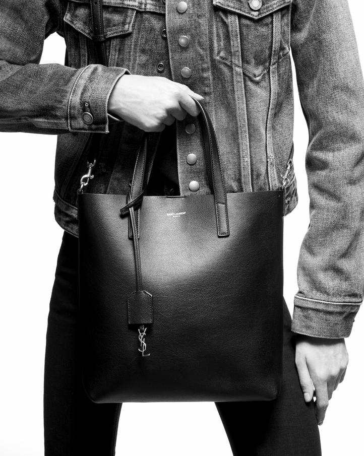 Saint Laurent Shopping Bag Saint Laurent Toy In Supple Leather ... 32645a4ad65cf