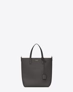 SAINT LAURENT Shopping Saint Laurent E/W D SHOPPING Toy bag in asphalt gray leather f