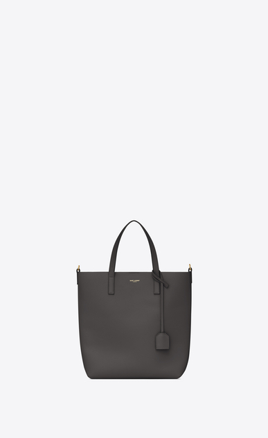 SAINT LAURENT Shopping Saint Laurent E/O D Sac Toy SHOPPING en cuir gris asphalt a_V4