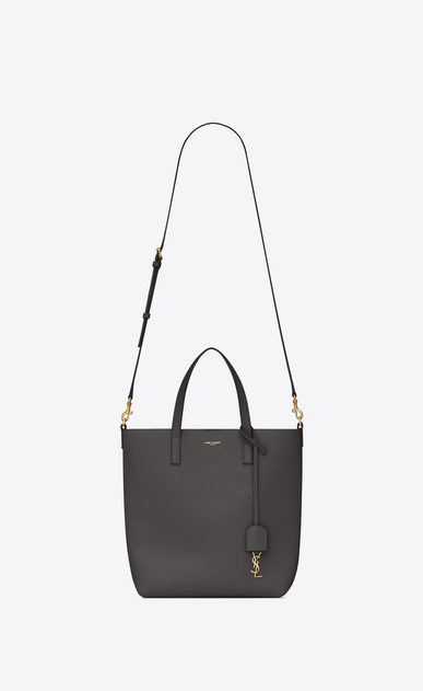 SAINT LAURENT Shopping Saint Laurent E/O D Sac Toy SHOPPING en cuir gris asphalt b_V4