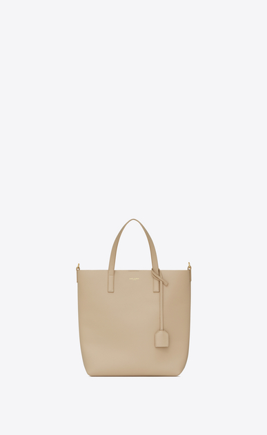 SAINT LAURENT Shopping Saint Laurent N/S Femme Sac Toy SHOPPING en cuir poudre a_V4